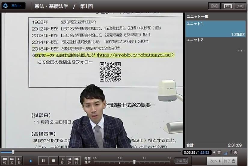 LEC 行政書士 講義動画